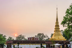 Wat Phra That Chae Haeng morning. Wat Phra Chae Haeng ,Nan Thailand Royalty Free Stock Image
