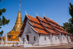 Wat Phra That Chae Haeng, Nan province, Thailand. Generality in Thailand, any kind of art decorated in Buddhist church, temple pavilion, temple hall, monk's Stock Photos