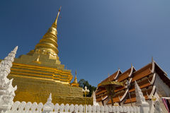 Wat Phra That Chae Haeng in Nan Thailand Stock Foto's