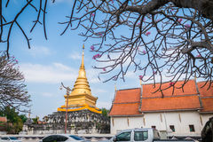 Wat Phra That Chang Kam Worawihan Buddhist temple in Nan Provinc. E, Thailand royalty free stock photo