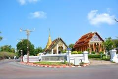 Wat Phra That Chang Kham Worawihan a Nan, Tailandia immagini stock libere da diritti
