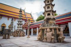 Wat Phra Chetuphon Wat Pho lub Wat Phra Chetuphon Vimolmangklararm Rajwaramahaviharn zdjęcie stock