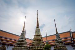 Wat Phra Chetuphon Wat Pho ? Wat Phra Chetuphon Vimolmangklararm Rajwaramahaviharn στοκ εικόνες