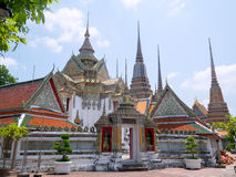 Wat Phra Chetupon Vimolmangklararm Wat Pho temple in Thailand. Stock Photo