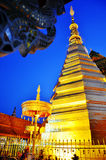 Wat Phra That Cho Hae in Phrae at Night Time Royalty Free Stock Images