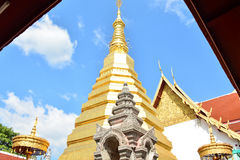 Wat Phra That Cho Hae, Phrae Thailand 3. Wat Phra That Cho Hae old temple Stock Photo