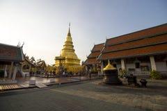 Wat phra das hariphunchai Stockfoto