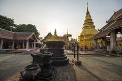 Wat phra das hariphunchai Stockfotografie