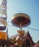 Wat phra das hariphunchai Stockbild