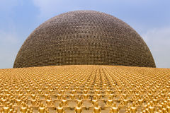 Wat Phra Dhammakaya  is a Buddhist temple in Bangkok, Thailand Royalty Free Stock Image