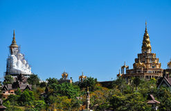 Wat Phra Dhat Phasornkaew. At Khao Kho, Petchabun , thailand Stock Photo