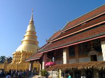 Wat Phra Dhatu Hariphunchai Worra Mahawiharn (crostata di Phra 4) Immagini Stock