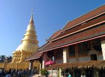 Wat Phra Dhatu Hariphunchai Worra Mahawiharn (Phra tarta 4) Obrazy Stock