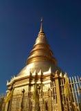 Wat Phra Dhatu Hariphunchai Worra Mahawiharn (Phra tarta 6) Obraz Stock