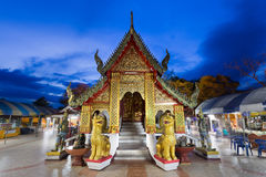 Wat Phra That Doi Kham, Buddhist temple in the historic of Chian Stock Photo