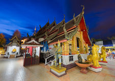 Wat Phra That Doi Kham, Buddhist temple in the historic of Chian Royalty Free Stock Image