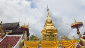 Wat Phra That Doi Kham is a buddhist temple in the historic of Chiang Mai, Thailand