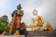 Wat Phra That Doi Kham Chiang Mai Arkivbilder