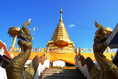 Wat Phra That Doi Kham chiangmai Thailand Arkivfoton