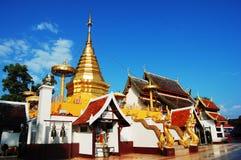Wat Phra That Doi Kham chiangmai Thailand Royaltyfri Bild