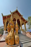 Wat Phra That Doi Kham temple. Tambon Mae Hia, Amphoe Mueang. Chiang Mai province. Thailand. Wat Phra That Doi Kham is a Theravada Buddhist temple in Amphoe stock photos