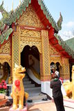 Wat Phra That Doi Kham temple. Tambon Mae Hia, Amphoe Mueang. Chiang Mai province. Thailand Royalty Free Stock Image