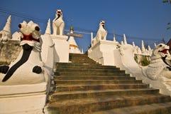Wat Phra That Doi Kong Mu. Part of the temple Wat Phra That Doi Kong Mu in mae Hong Son Stock Photography