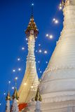 Wat Phra That Doi Kong Mu. Temple stupa in Mae Hong Son, Northern Thailand Stock Photography