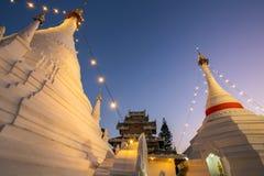 Wat Phra That Doi Kong Mu. Temple stupa in Mae Hong Son, Northern Thailand Stock Image