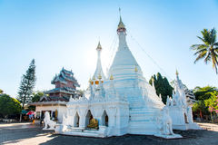 Wat Phra That Doi Kong MU, es la señal más vieja de Mae Hong So foto de archivo libre de regalías