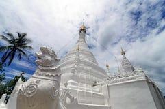 Wat Phra That Doi Kong Mu,Mae Hong Son,Northern Thailand. Wat Phra That Doi Kong Mu on a mountain top,Mae Hong Son,Northern Thailand Royalty Free Stock Photography