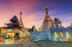 Wat Phra That Doi Kong Mu, Thailand. Wat Phra That Doi Kong Mu in Mae Hong Son province of Thailand Royalty Free Stock Images
