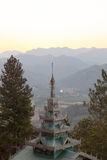 Wat Phra That Doi Kong Mu. Sunset Wat Phra That Doi Kong Mu in mae Hong Son Royalty Free Stock Photography
