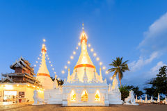 Wat Phra That Doi Kong Mu temple on a mountain top Stock Photos