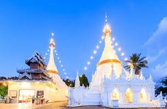 Wat Phra That Doi Kong Mu temple on a mountain top Royalty Free Stock Photos