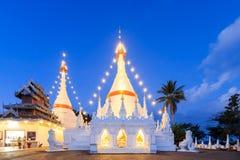Wat Phra That Doi Kong Mu temple on a mountain top Royalty Free Stock Photo