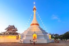 Wat Phra That Doi Kong Mu temple on a mountain top,Mae Hong Son Royalty Free Stock Photos