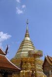 Wat Phra That Doi Suthep è attrazione turistica di Chiang Mai Immagini Stock Libere da Diritti