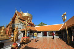 Wat Phra That Doi Suthep in Chiang Mai Royalty Free Stock Images