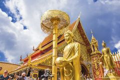 Wat Phra That Doi Suthep, Chiang Mai, Thailand. CHIANGMAI, THAILAND - October 25, 2018: Wat Phra That Doi Suthep  Lanna stely architecture is famous visiting royalty free stock photo