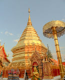 Wat Phra That Doi Suthep in Chiang Mai Thailand. Wat Phra That Doi Suthep in Chiang Mai Province Northern Thailand. The temple have been founded in 1383 when the Royalty Free Stock Photos