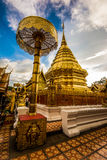 Wat Phra That Doi Suthep Chiang Mail tempel i Thailand Arkivfoto