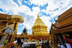 Wat Phra That Doi Suthep el templo fundado en 1385 es un l importante Imagen de archivo