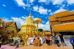 Wat Phra That Doi Suthep el templo fundado en 1385 es un l importante Foto de archivo libre de regalías