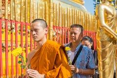 Wat Phra That Doi Suthep en Chiang Mai, Tailandia Imagen de archivo libre de regalías