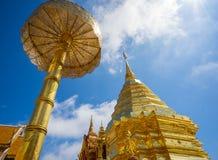 Wat Phra That Doi Suthep en Sunny Day Chiang Mai Photo libre de droits