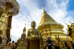 Wat Phra That Doi Suthep in Chiang Mai, Thailand. Stock Image
