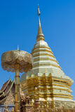 Wat Phra That Doi Suthep. Golden angel Wat Phra That Doi Suthep, Chiangmai ,Thailand, statue in religion Thailand , are public domain ,no restrict in copy or use Stock Image