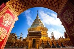 Wat Phra That Doi Suthep, Historische tempel in Thailand Stock Afbeelding