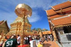 Wat Phra That Doi Suthep i Chiang Mai Arkivbild